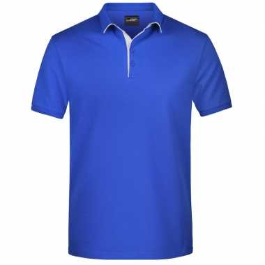 Polo t shirt high quality blauw heren