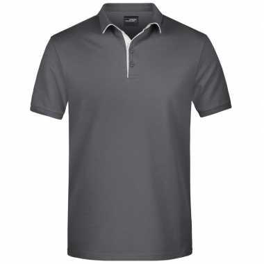 Polo t shirt high quality grijs heren