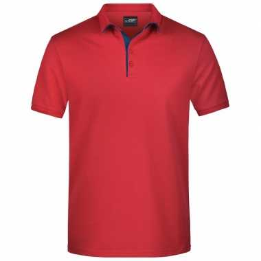 Polo t shirt high quality rood heren