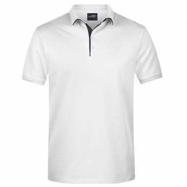 Polo t shirt high quality wit heren