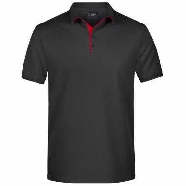 Polo t shirt high quality zwart heren