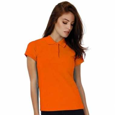 Polo werk shirts oranje dames