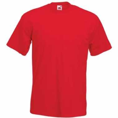 Rode t shirts korte mouwen heren