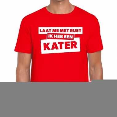 Rode tekst shirts heren