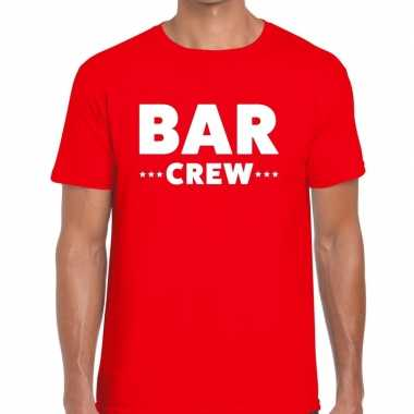 Rood bar crew shirt heren