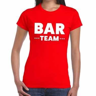 Rood bar team shirt dames