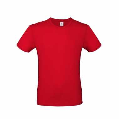 Rood basic t shirt ronde hals heren katoen