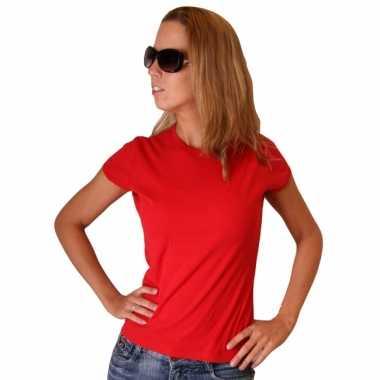 Rood Bella shirt dames