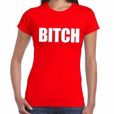 Rood bitch shirt dames