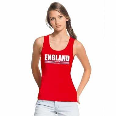 Rood engeland supporter singlet shirt/ tanktop dames