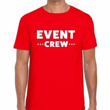Rood event crew shirt heren