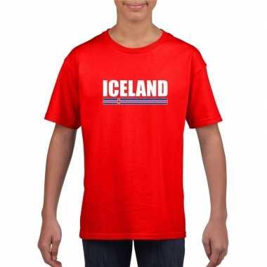 Rood ijsland supporter t shirt kinderen