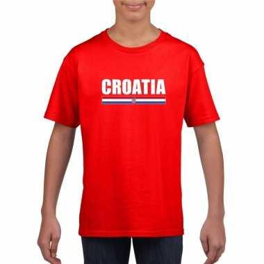 Rood kroatie supporter t shirt kinderen