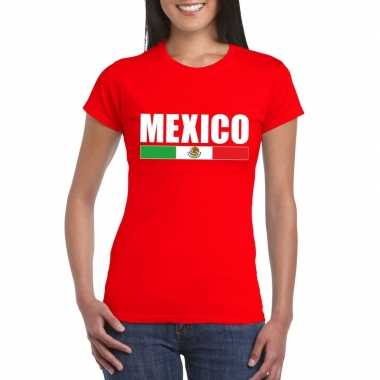 Rood mexico supporter t shirt dames