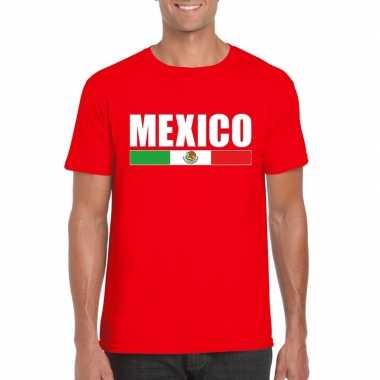 Rood mexico supporter t shirt heren