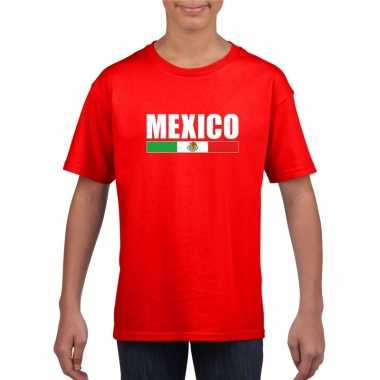 Rood mexico supporter t shirt kinderen