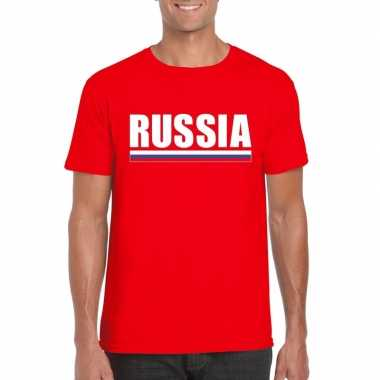 Rood rusland supporter t shirt heren