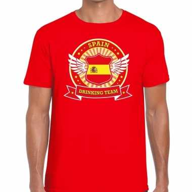 Rood spain drinking team t shirt heren