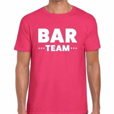 Roze bar team shirt heren