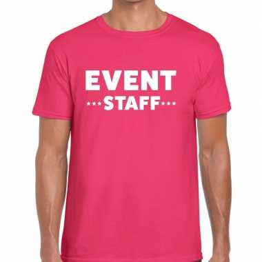 Roze event staff shirt heren