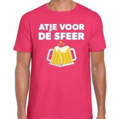 Roze feest shirt atje sfeer bedrukking