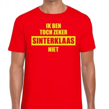 Sint-shirt rood ik ben toch zeker sinterklaas niet mannen