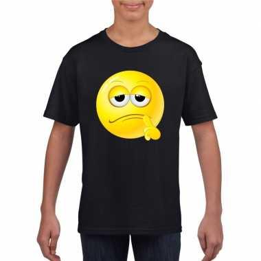 Smiley t-shirt bedenkelijk zwart kinderen