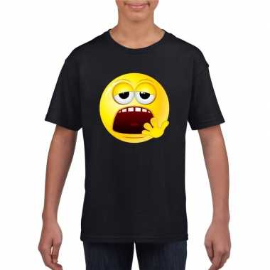 Smiley t-shirt moe zwart kinderen