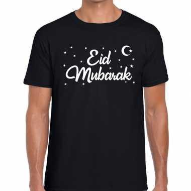 Suikerfeest eid mubarak t-shirt zwart heren