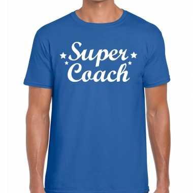 Super coach cadeau t shirt blauw heren