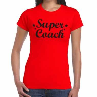 Super coach cadeau t shirt rood dames