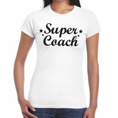 Super coach cadeau t shirt wit dames