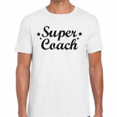 Super coach cadeau t shirt wit heren