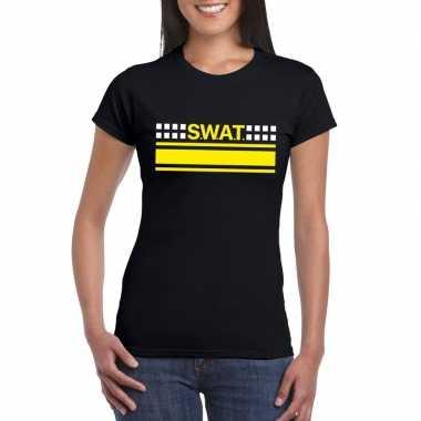 Swat team logo t shirt zwart dames