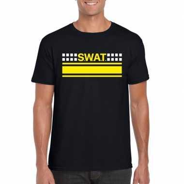 Swat team logo t shirt zwart heren