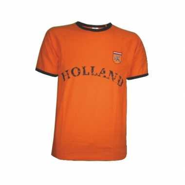 T-shirt oranje borduursel Holland