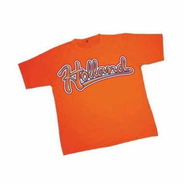 T-shirt oranje tekst Holland