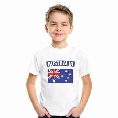 T shirt wit australie vlag wit jongens meisjes