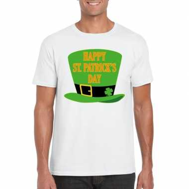 T shirt wit happy st. patricksday wit heren