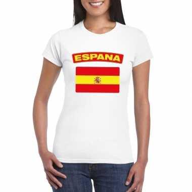 T shirt wit spanje vlag wit dames