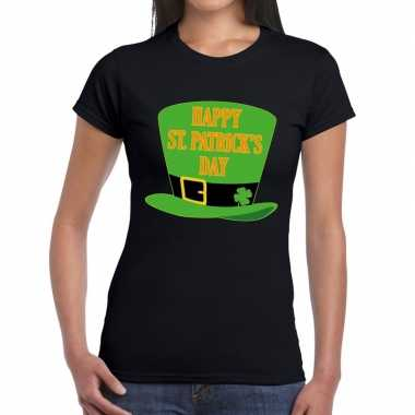 T shirt zwart happy st. patricksday zwart dames