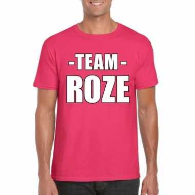 Team shirt roze heren bedrijfsuitje