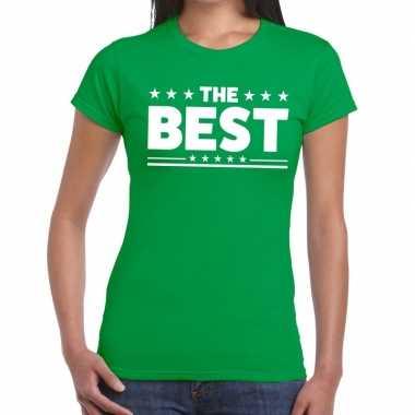 The best tekst t shirt groen dames