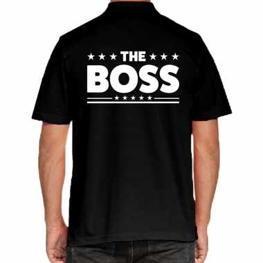 The boss poloshirt zwart heren