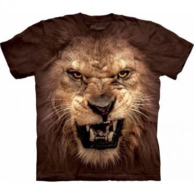 The mountain t-shirt realistische leeuw