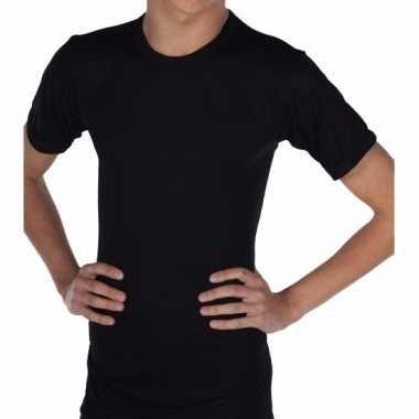 Thermo shirt zwart korte mouwen volwassenen