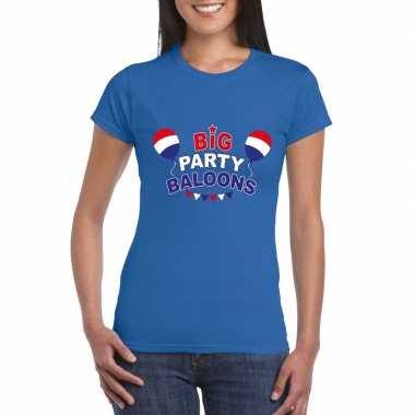 Toppers blauw toppers big party baloons dames t shirt officieel