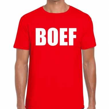 Toppers boef heren t shirt rood