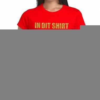 Toppers dit shirt zit een topper glitter tekst t shirt rood dames