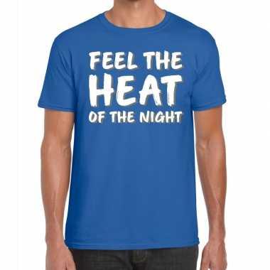 Toppers feel te heat of the night t shirt blauw heren